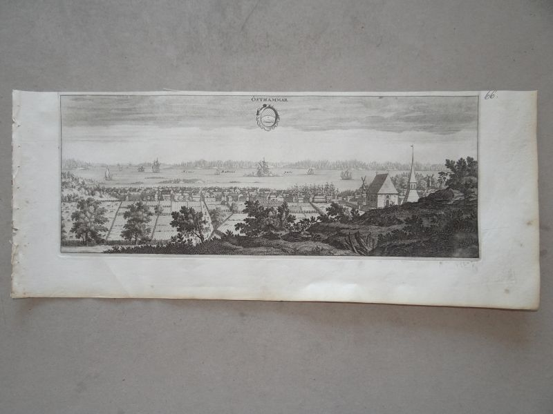 Östhammar, copperengraving, anno 1715, Dahlberg in Suecia antiqu