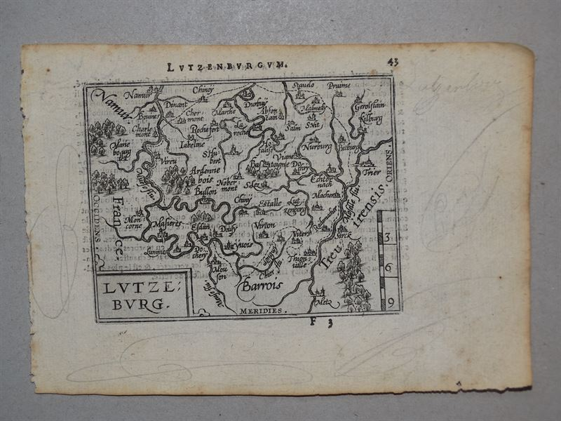 Luxemburg, anno 1590, copperengraving, Ortelius Abraham