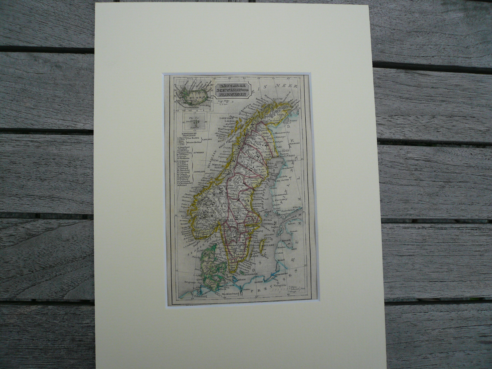 Norway,Sweden,anno 1850, steelengraving