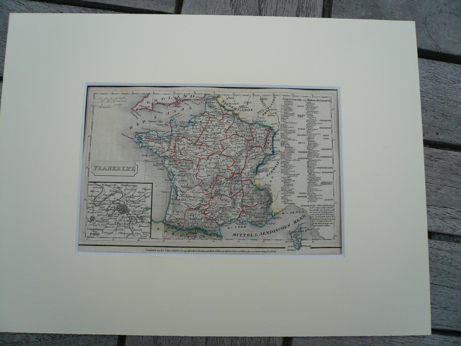 France, anno 1850, steelengraving