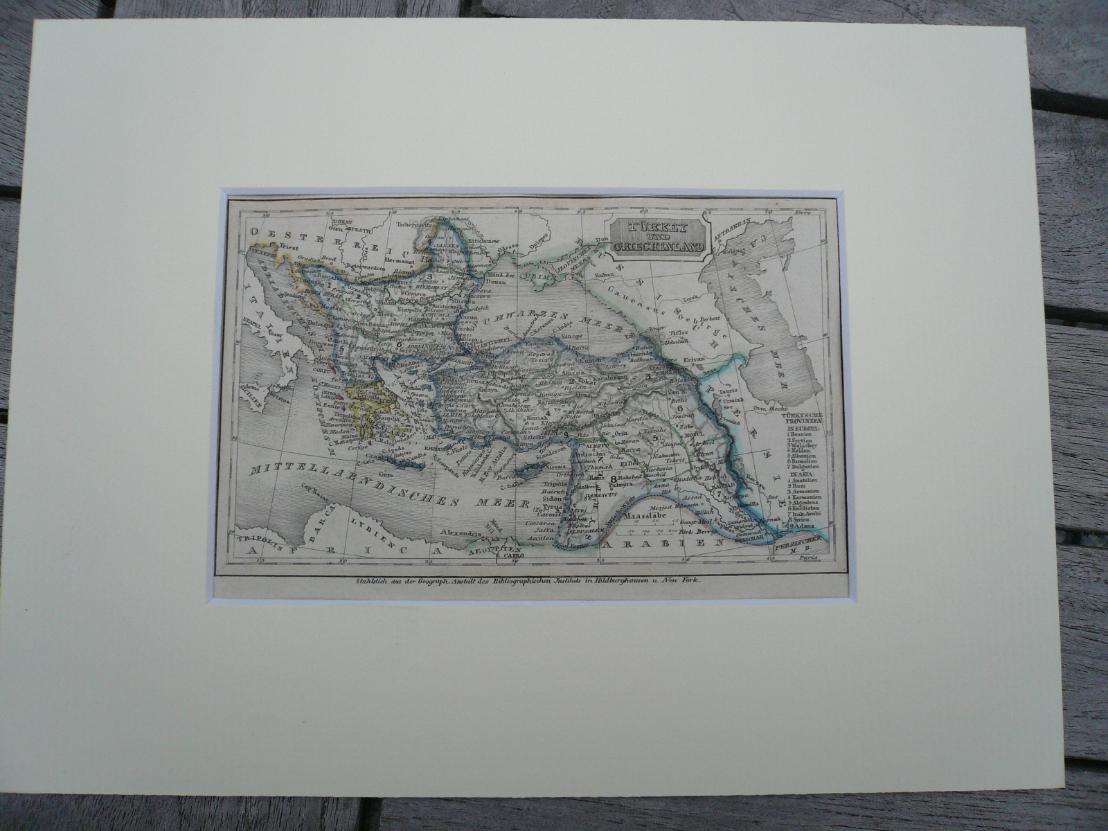 Turkey/near East, anno 1850, steelengraving