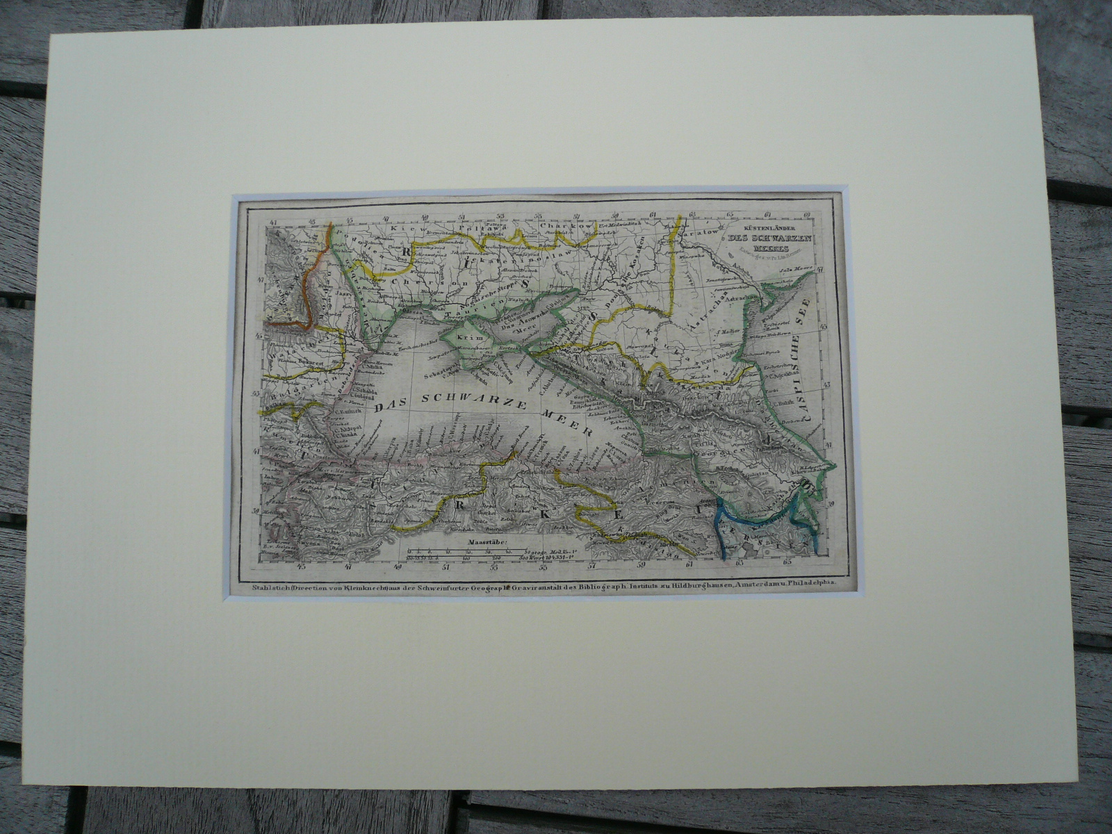 Black Sea, anno 1850, steelengraving