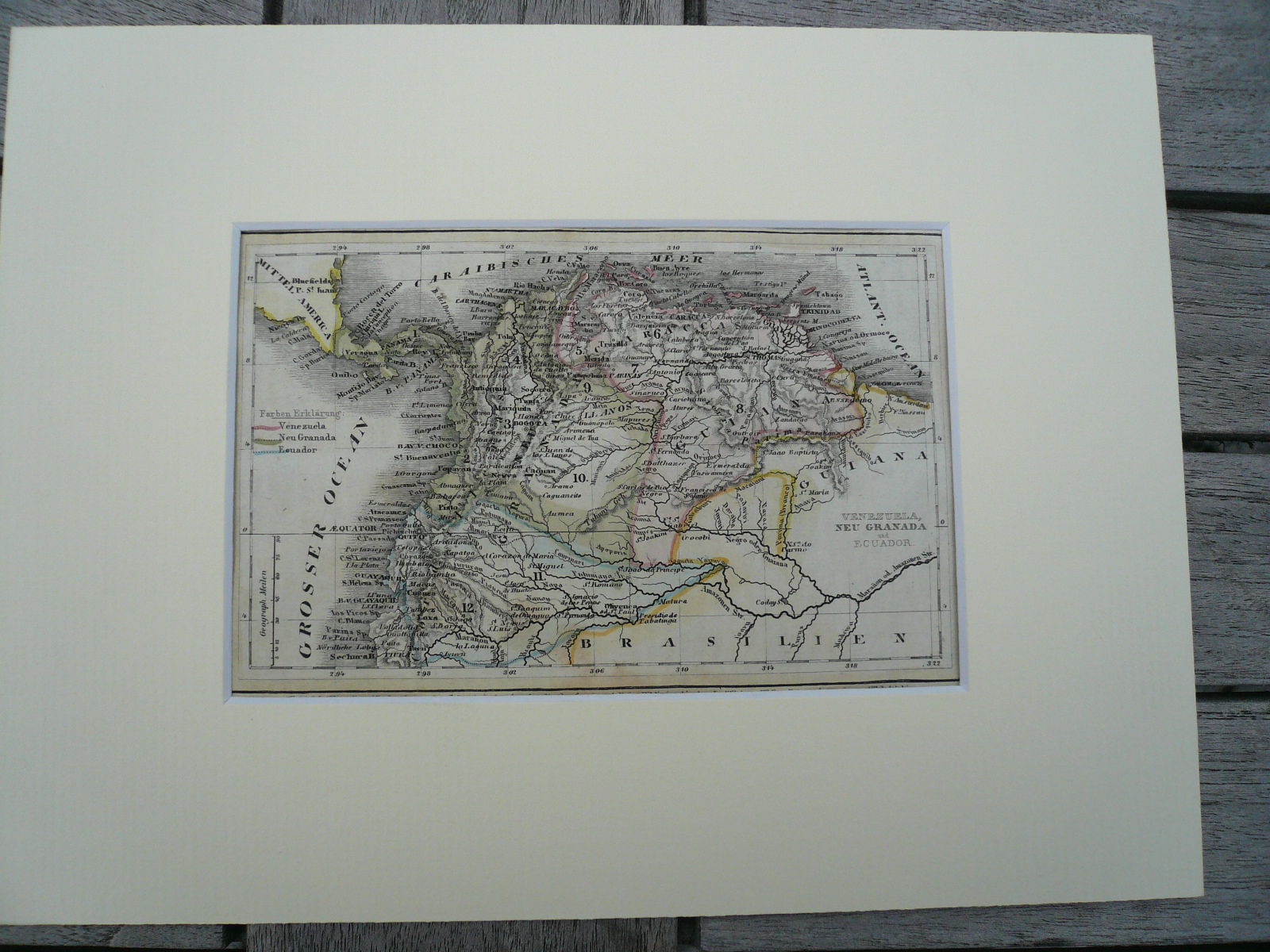 Southamerica, anno 1850, steelengraving