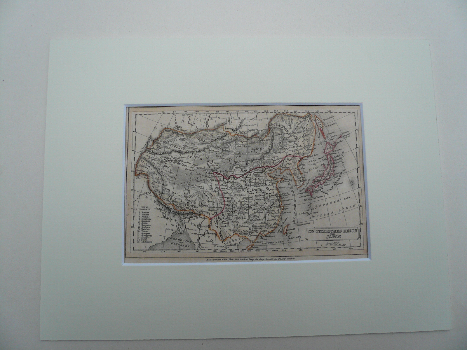 China/Japon, anno 1850, Steelengraving