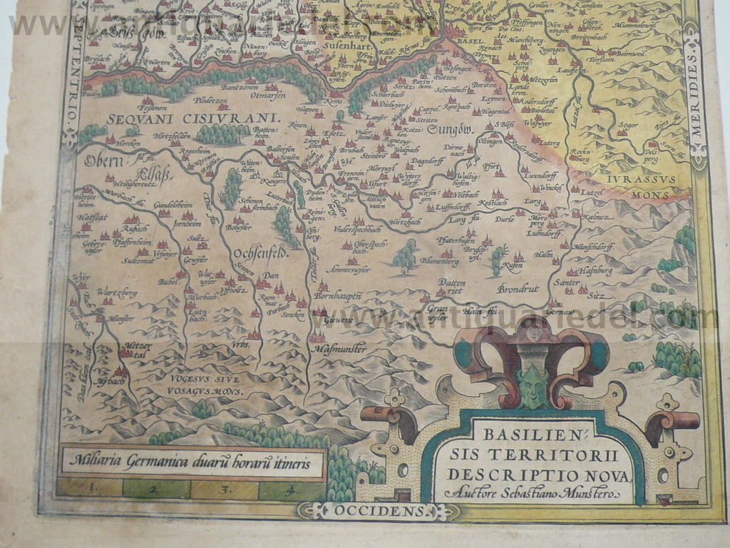 Basiliensis,Ortelius Abraham, lat.edition,1603, contemporary col