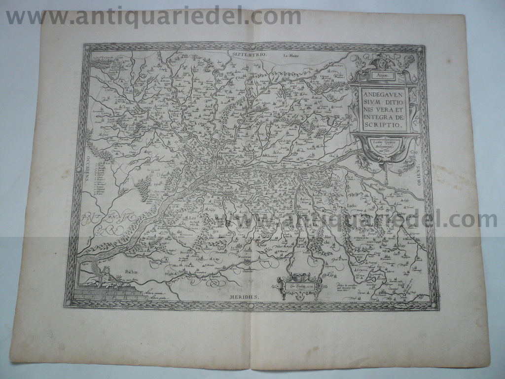 Anjou/Angers/Loire, map Ortelius A. anno 1598