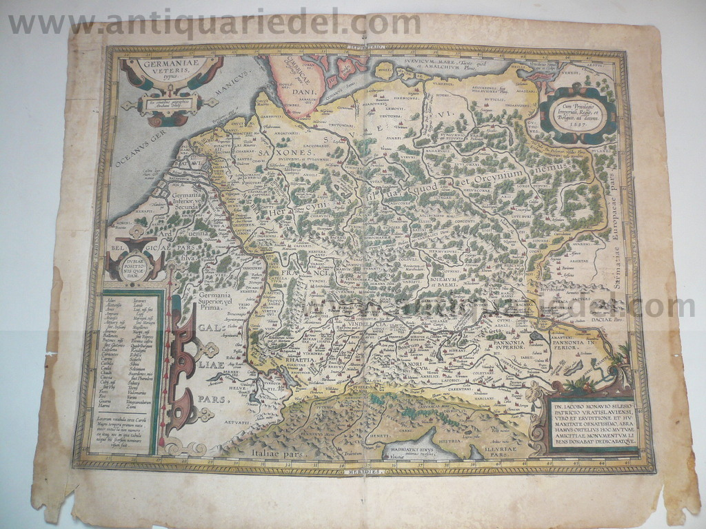 Germaniae, A.Ortelius, anno 1603, full coloured