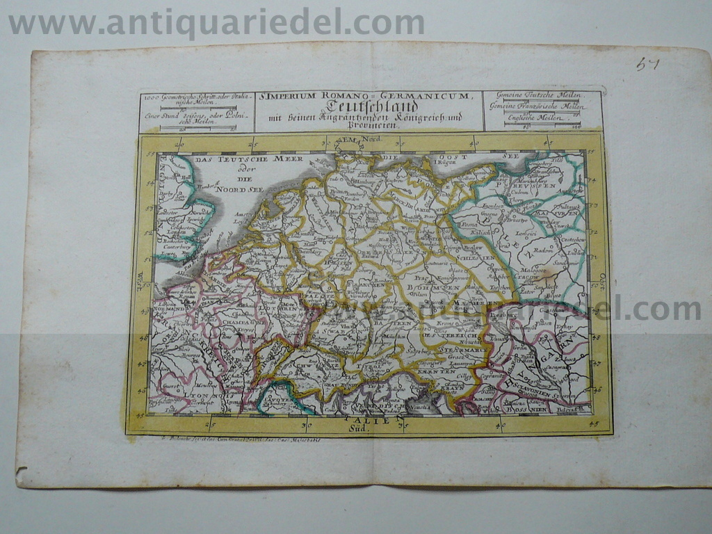 Germany, map, G.Bodenehr,anno 1720