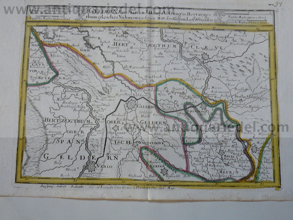 Geldern,Germany,map,Bodenehr,anno 1720