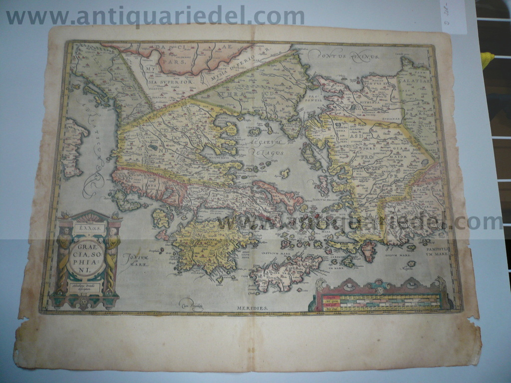Greece,Anatolis,map,Ortelius a.,1603,cont.coloured