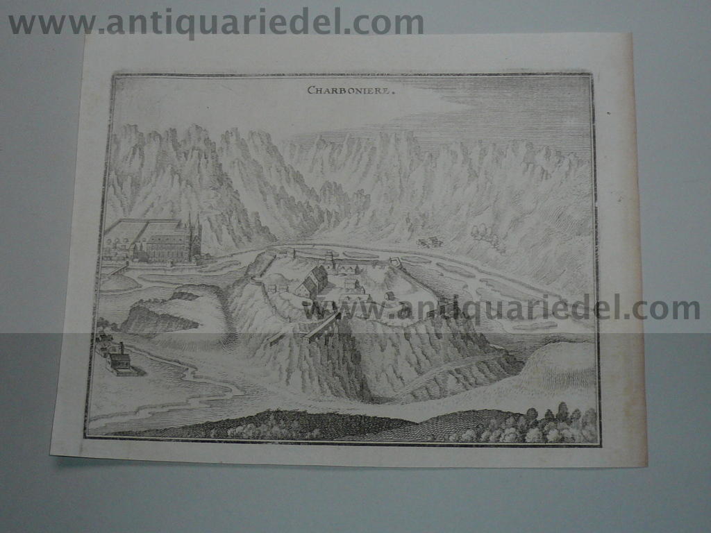 Aiguebelle,Fortress Charboniere,anno 1650,Merian