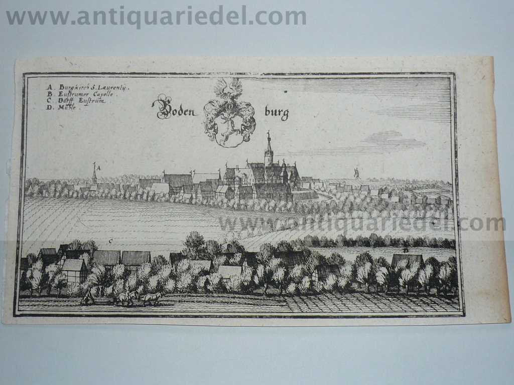 Bodenburg-Bad Salzdetfurth, anno 1650, Merian M.