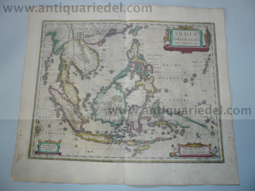 Indiae Orientalis, anno 1638, Janssonius map, german edition