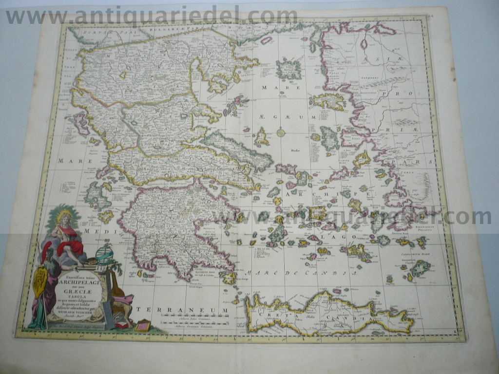 Greece,Asia Minor, Generalmap, anno 1690, Visscher N.