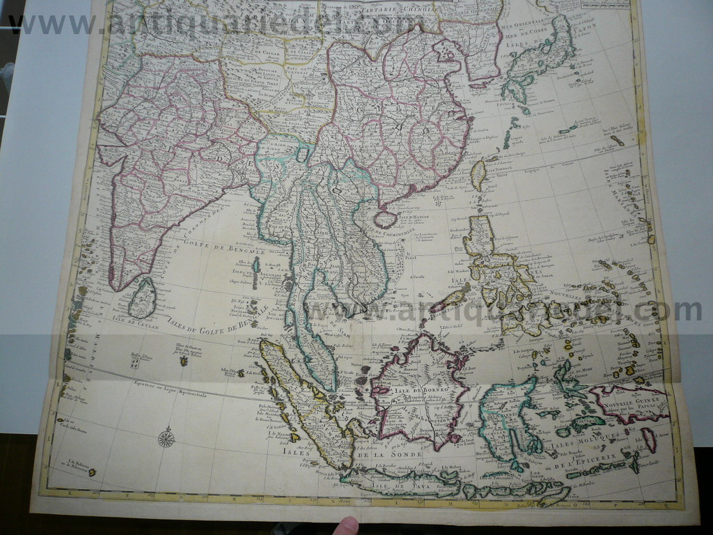 China,Far East,map,Covens+Mortier anno 1742