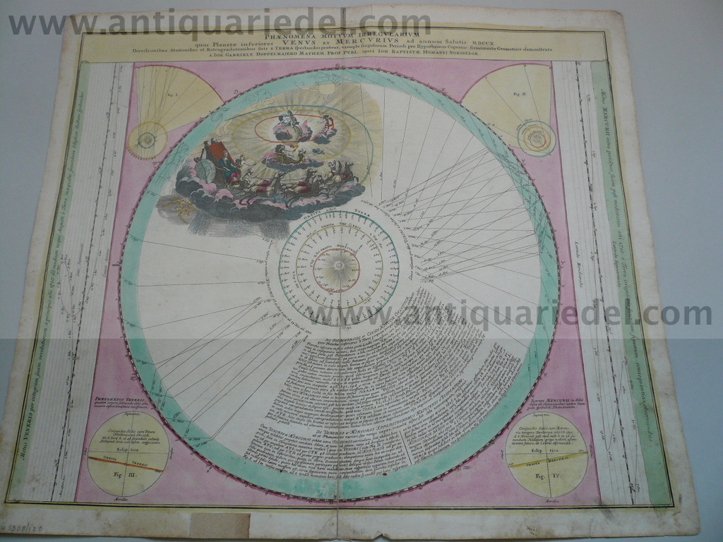 Atlas Coelestis,map,anno 1742,Doppelmayr,edited by Homann Heirs