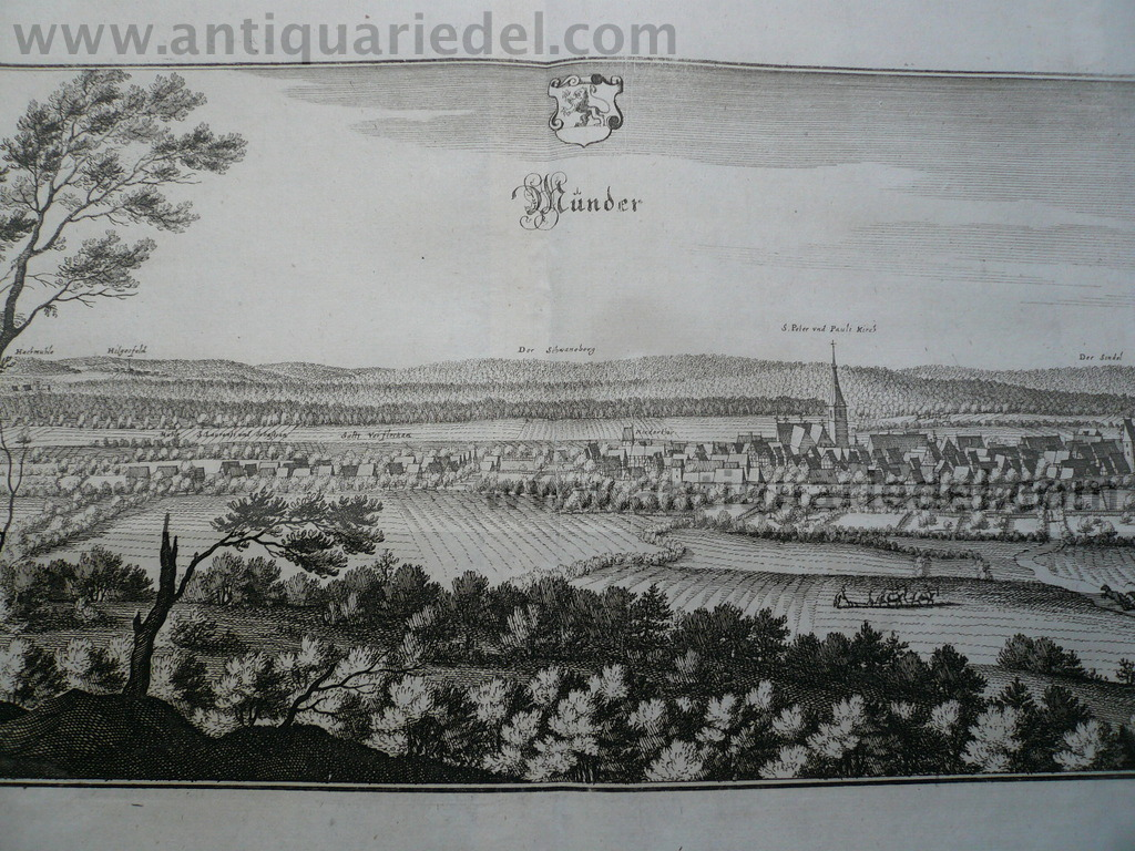 Bad Münder, Lower Saxony, anno 1650, Merian M.