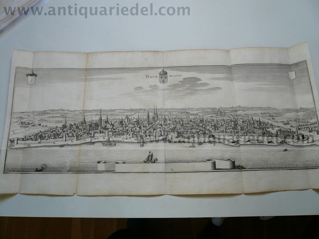 Bordeaux, Panorama, anno 1650, grosse Ansicht