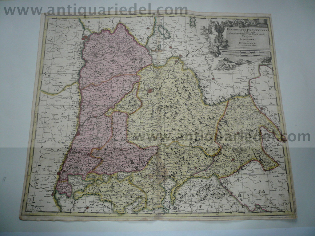 Dauphine, map, anno 1700, Valk G., old colours