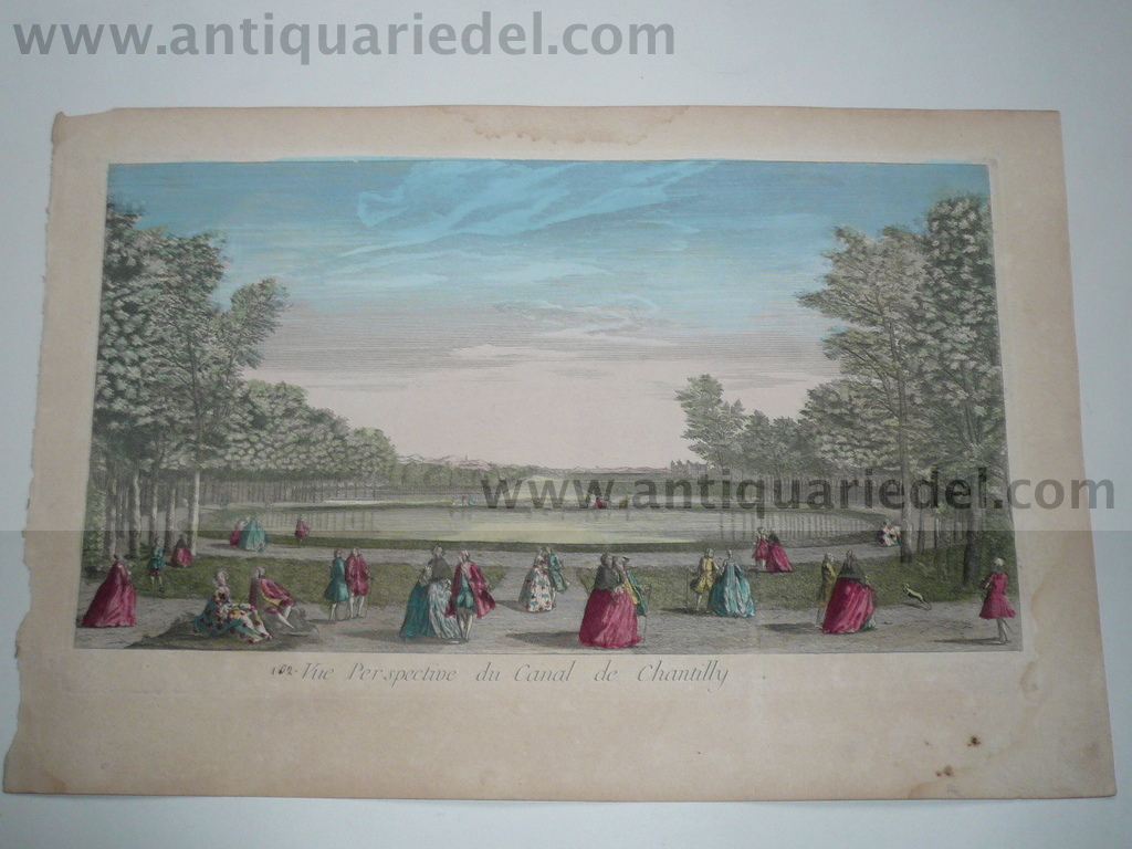 Chantilly, Optical Print, anno 1780, Canal de Chantilly