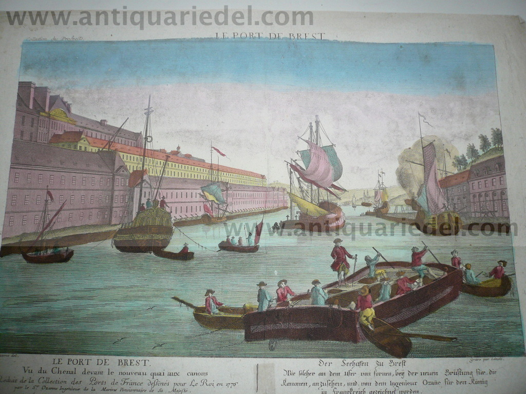 Brest, le Port, anno 1780, Optical Print, Leizelt