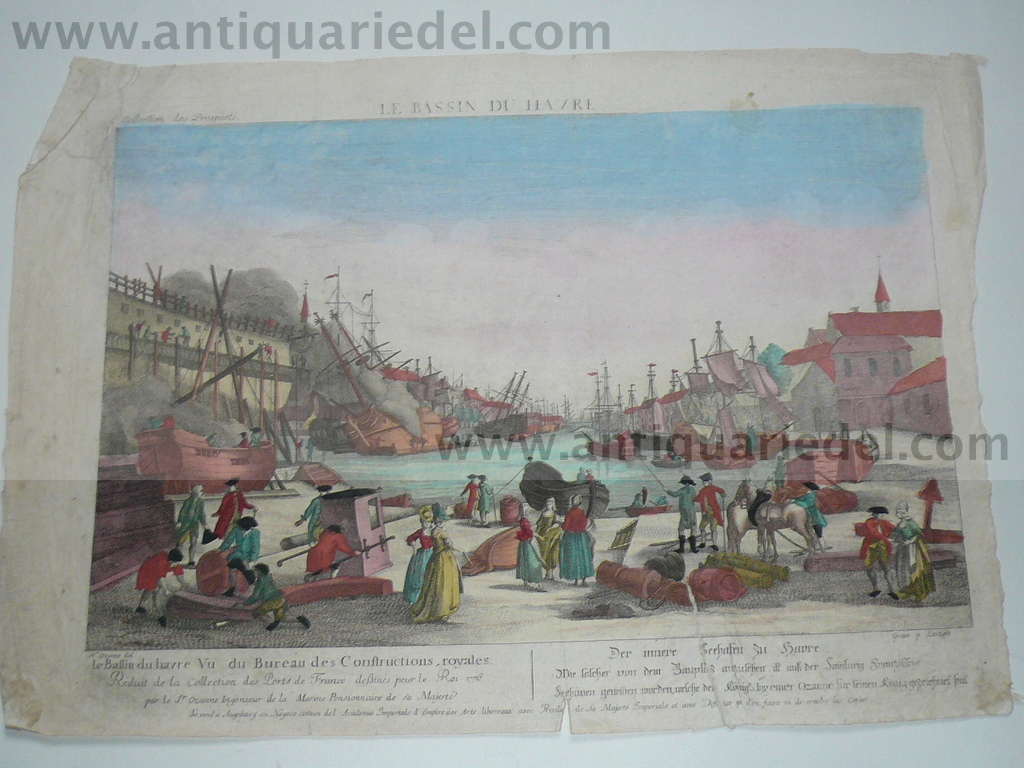 Le Havre, anno 1780, Optical Print, Leizelt