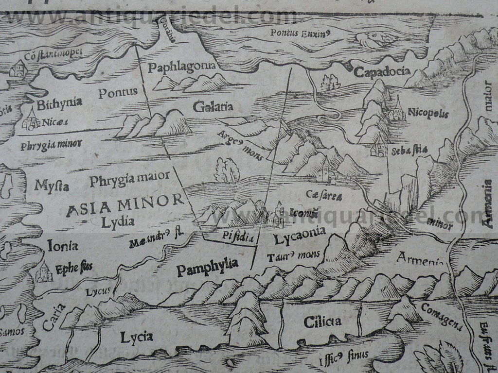 Asia minor/Anatolia, anno 1610, Map S.Münster