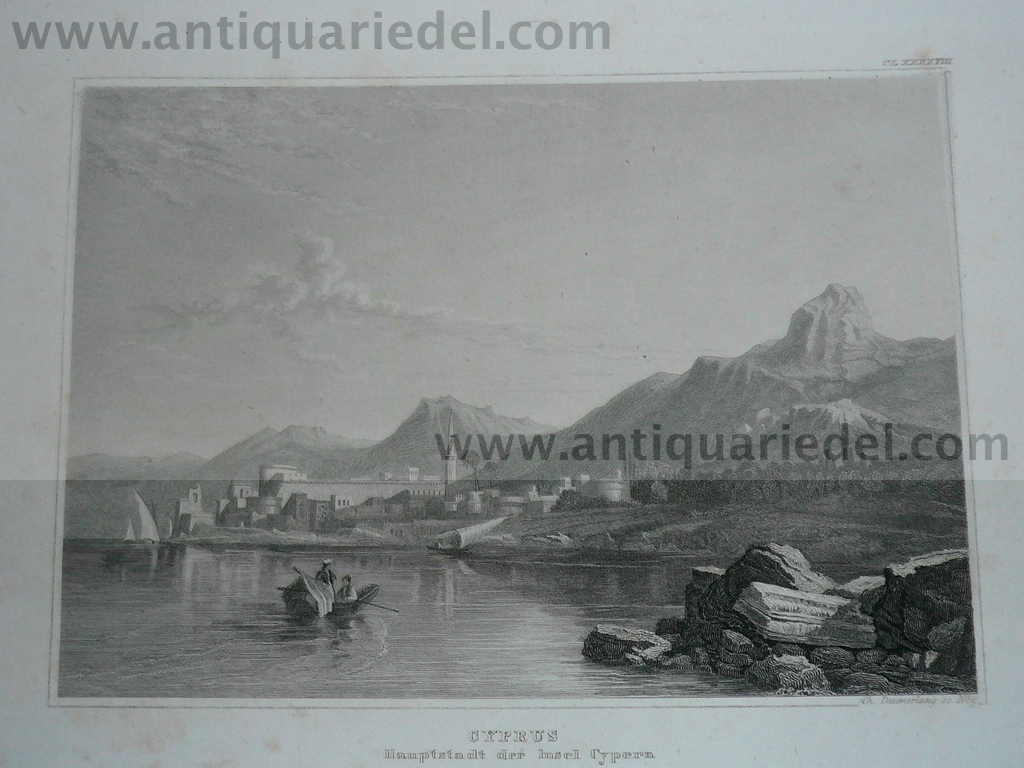 Cyprus, Steelengraving, anno 1850