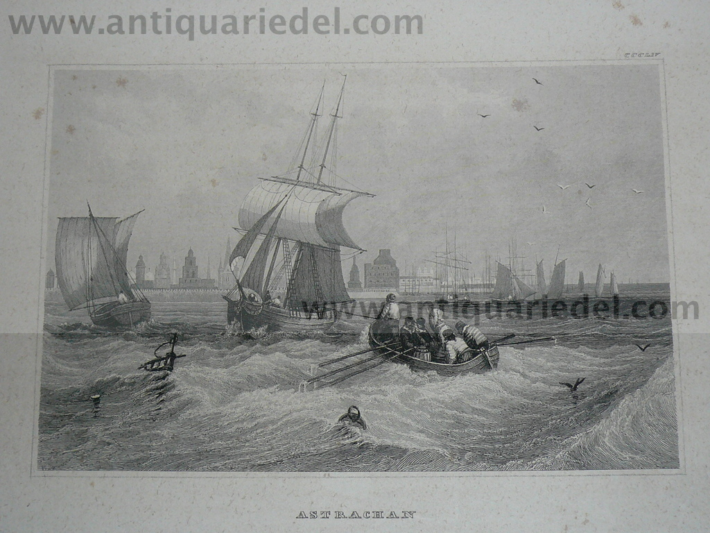 Astrachan, steelengraving, anno 1850
