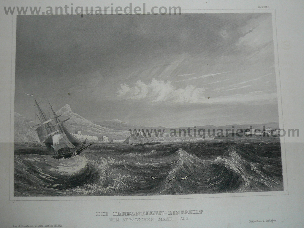 Dardanelles, anno 1850, steelengraving