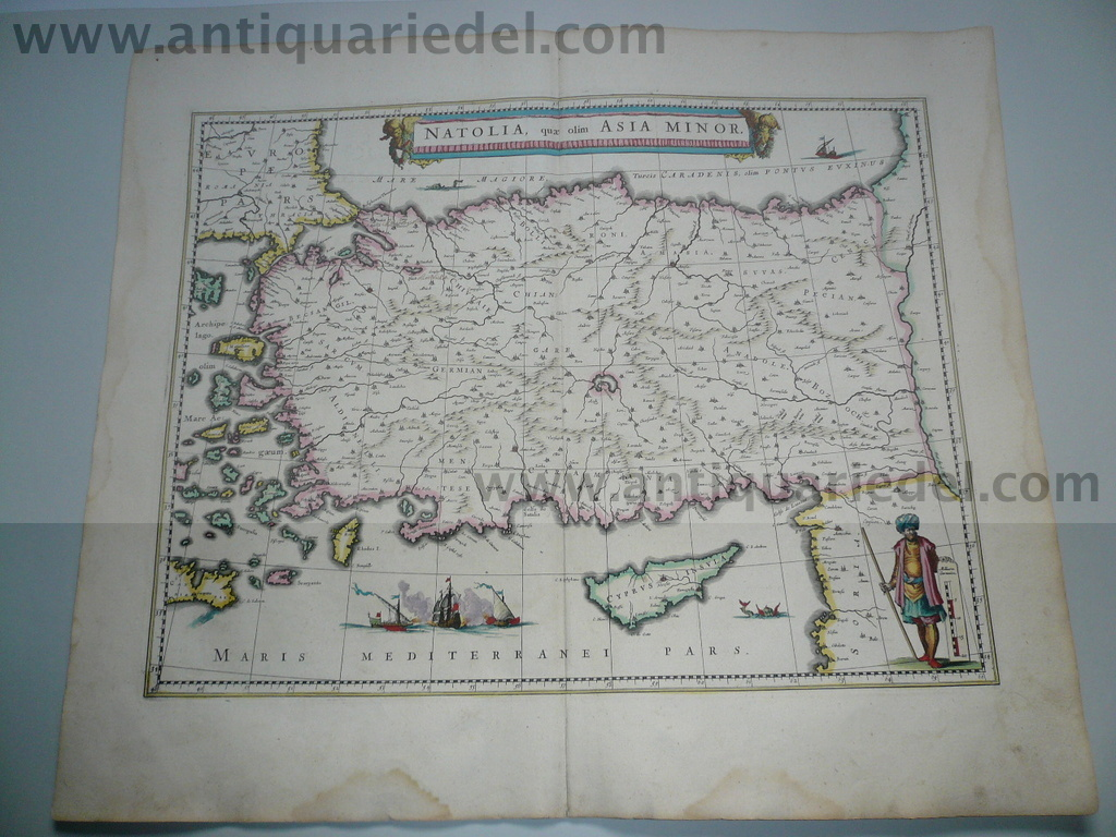 Asia Minor, anno 1638, Blaeu J.