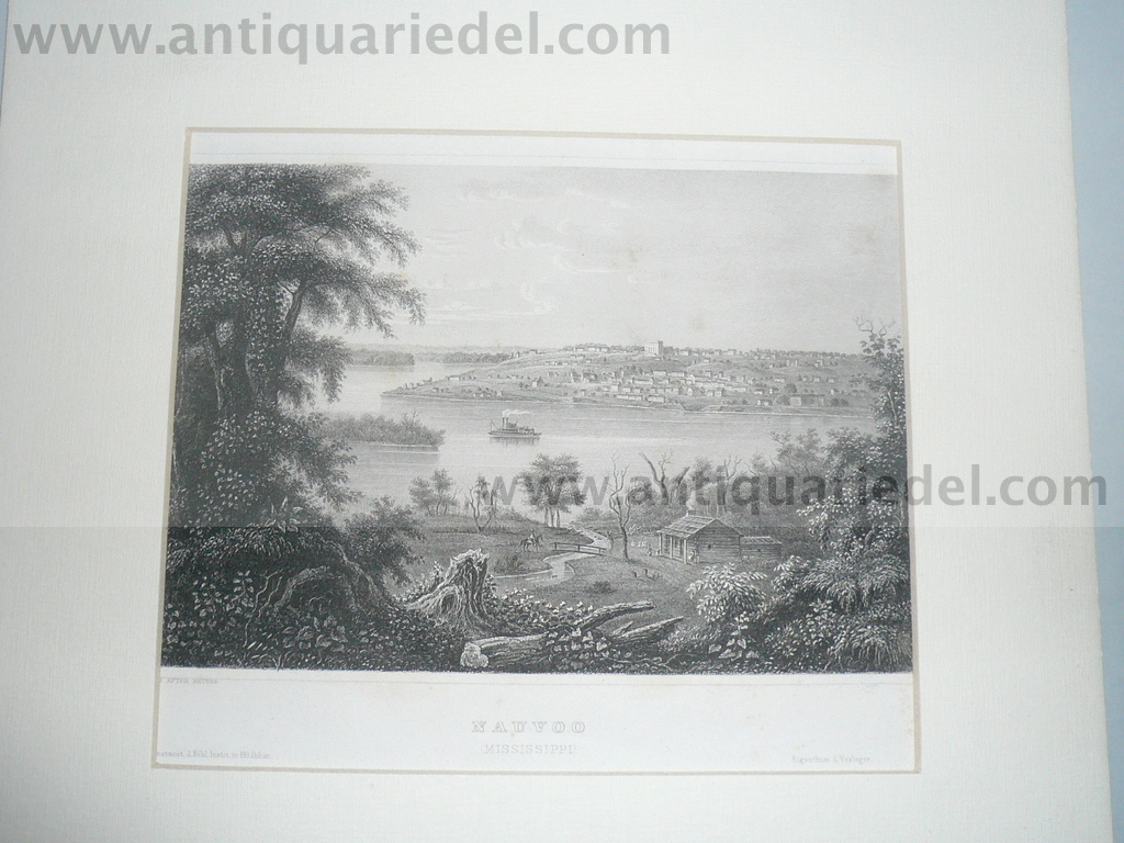 Nauvoo, Mississippi, anno 1850, steelengraving