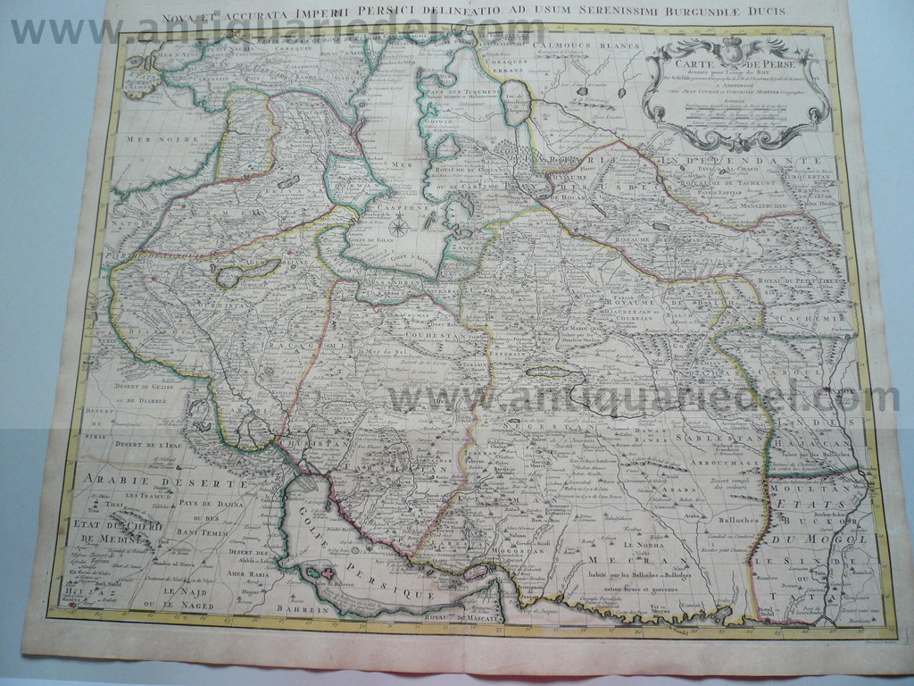 Persia,Afghanistan,Asia,anno 1742, Covens et Mortier