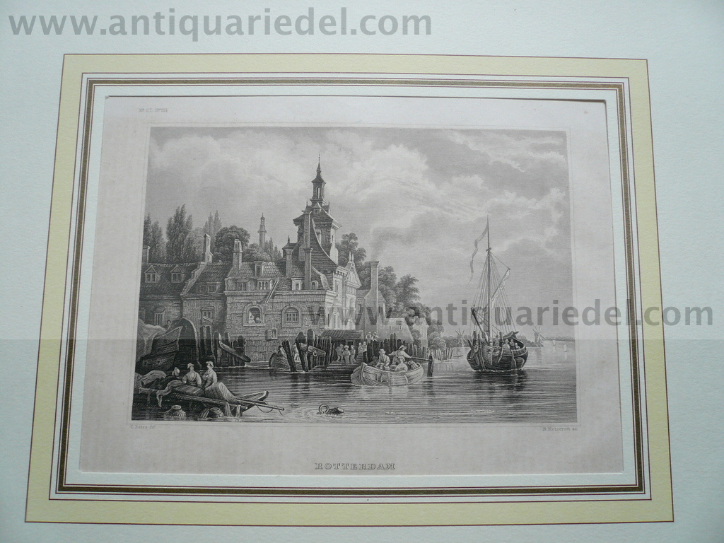Rotterdam, anno 1850, steelengraving