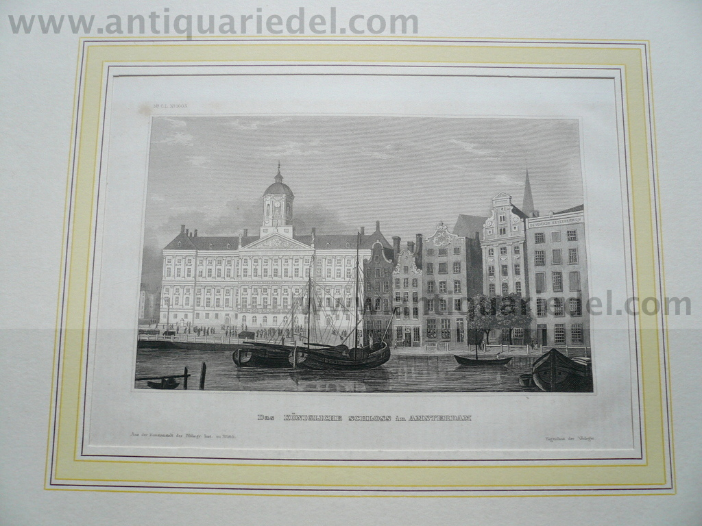 Amsterdam, anno 1850, steelengraving