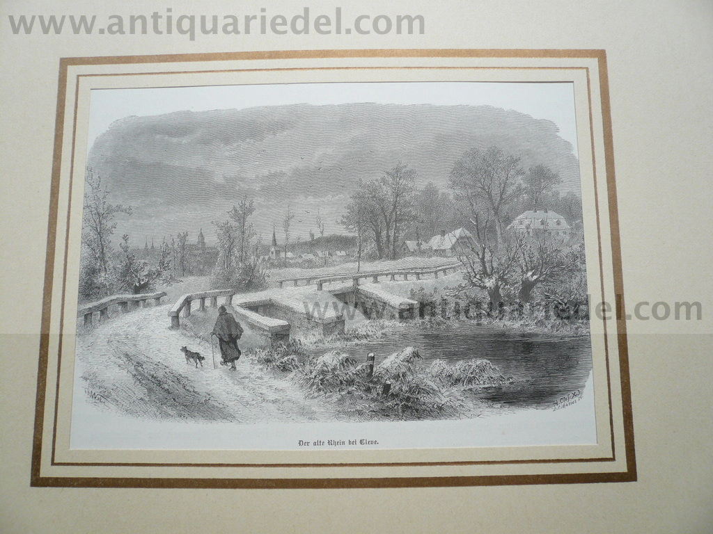 Kleve, woodcut anno 1880