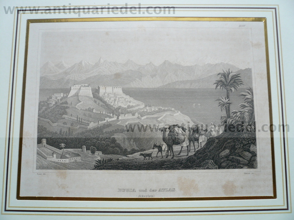 Bugia/Atlas, anno 1850,steelengraving