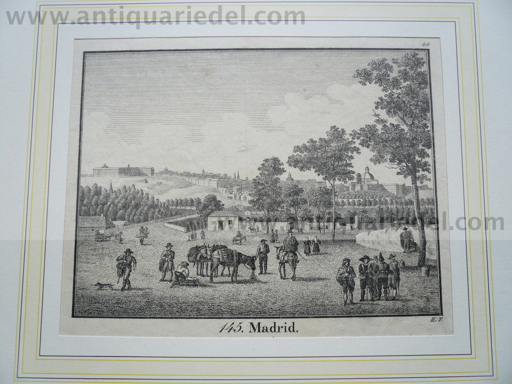 Madrid, anno 1850, steelengraving