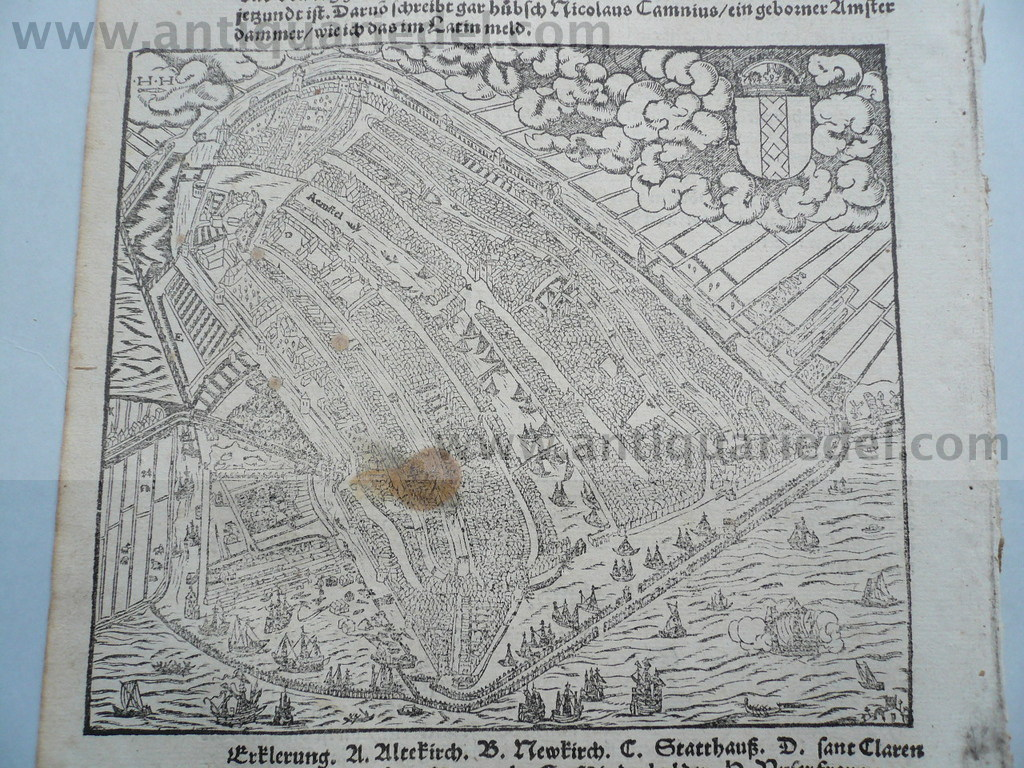 Amsterdam, anno 1570, S.Münster, woodcut