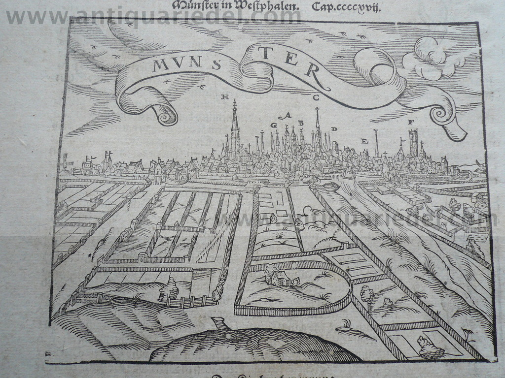 Münster, anno 1610, Woodcut, Münster S.