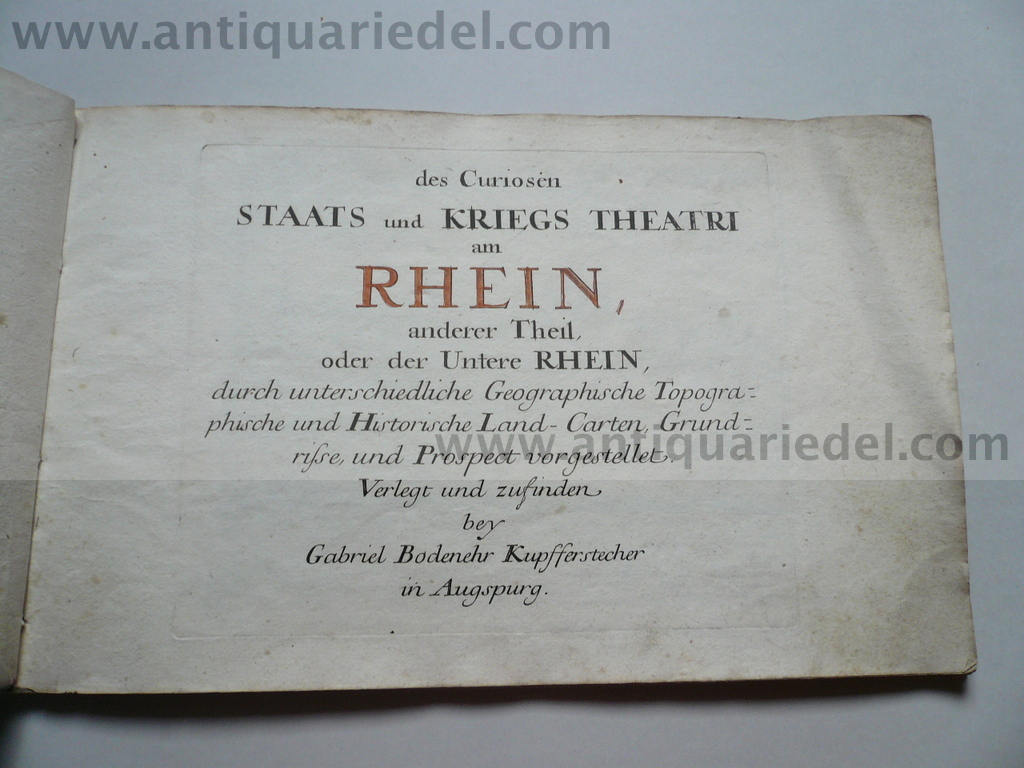 Kriegstheatrum am Rhein, anno 1720, 29 maps/townviews