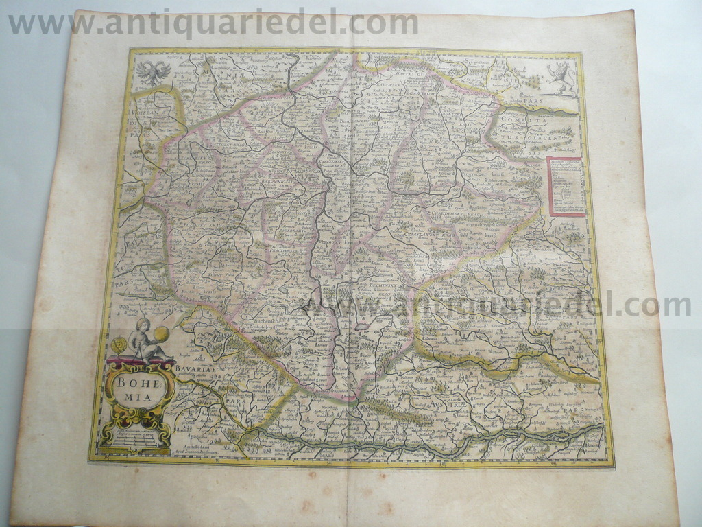 Bohemia, anno 1650, Janssonius, map