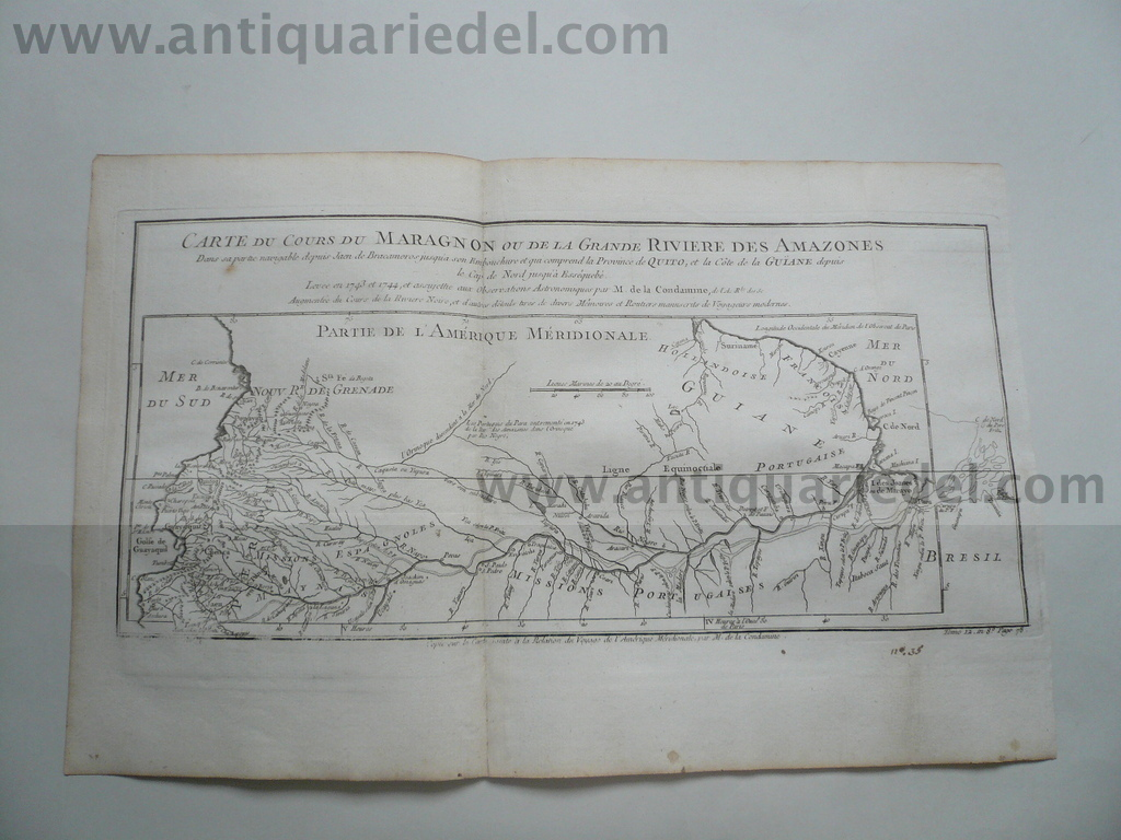 Amazonas, anno 1760, map, Bellin