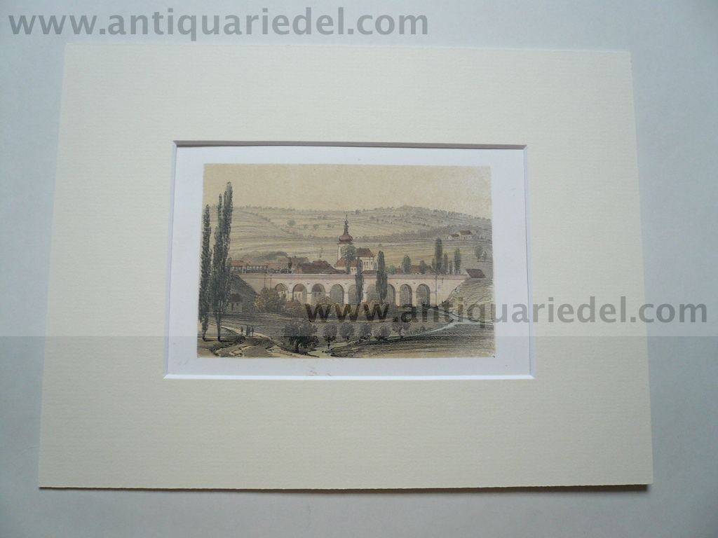 Auwal, anno 1860, Tonlithographie