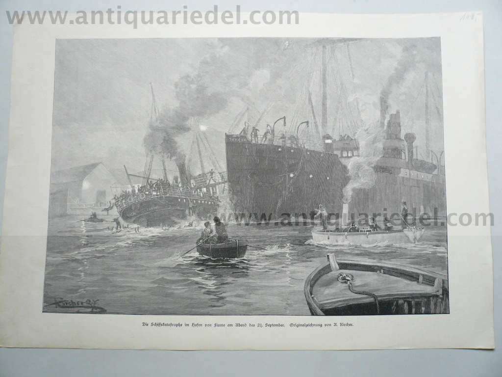 Rijeka, shipping accident of 21.09.1897