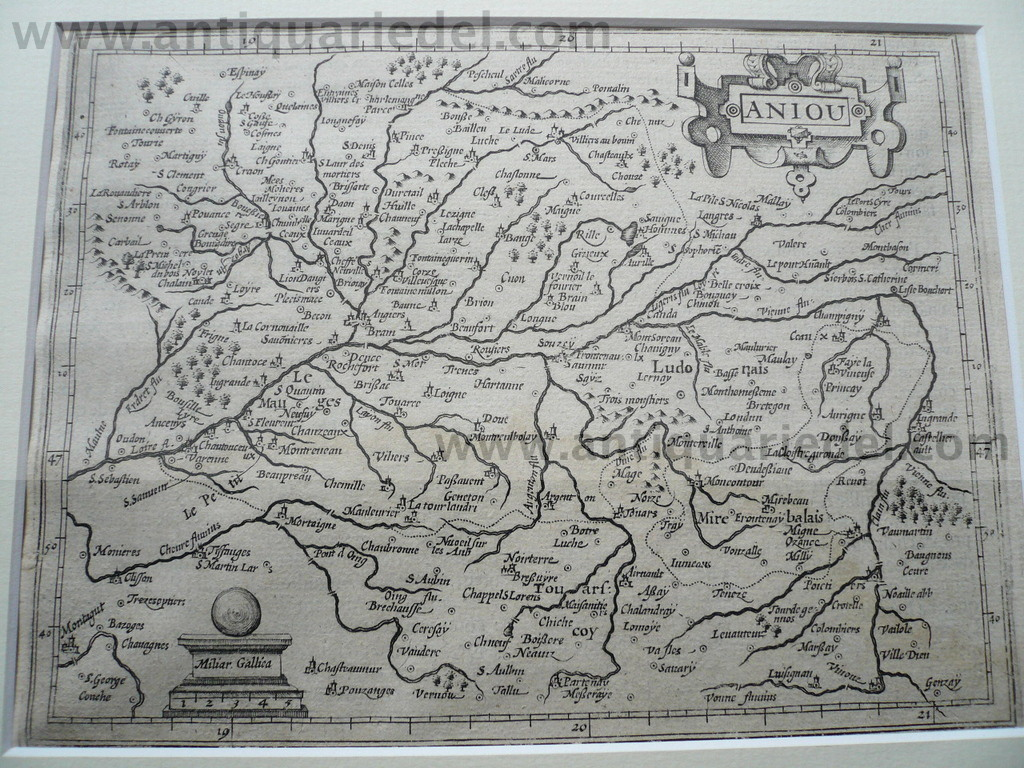 Aniou, map, anno 1620, Hondius-Janssonius