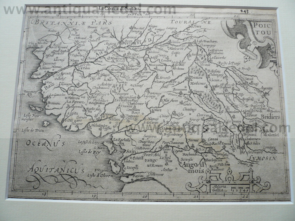 Poictou,map,anno 1620, Hondius-Janssonius
