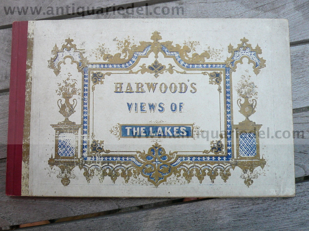Harwoods views of the Lakes, 18 steelengravings, anno 1850