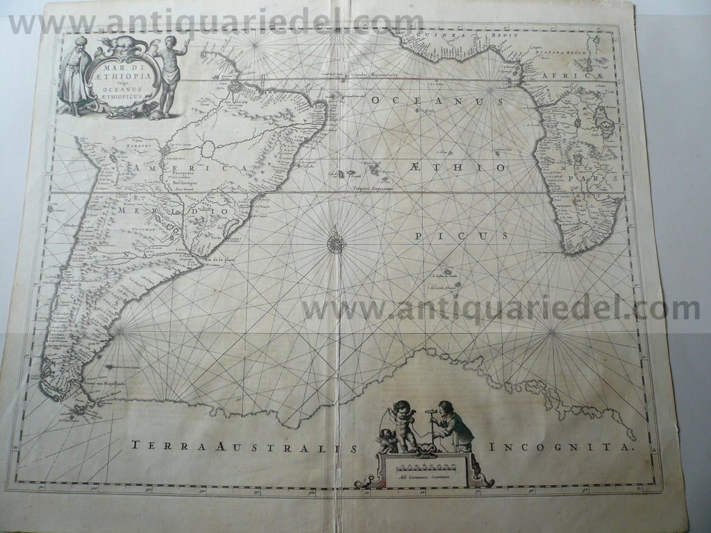 "South-Atlantic,Amerika,Afrika,anno 1650, Janssonius J., ""Mar di"