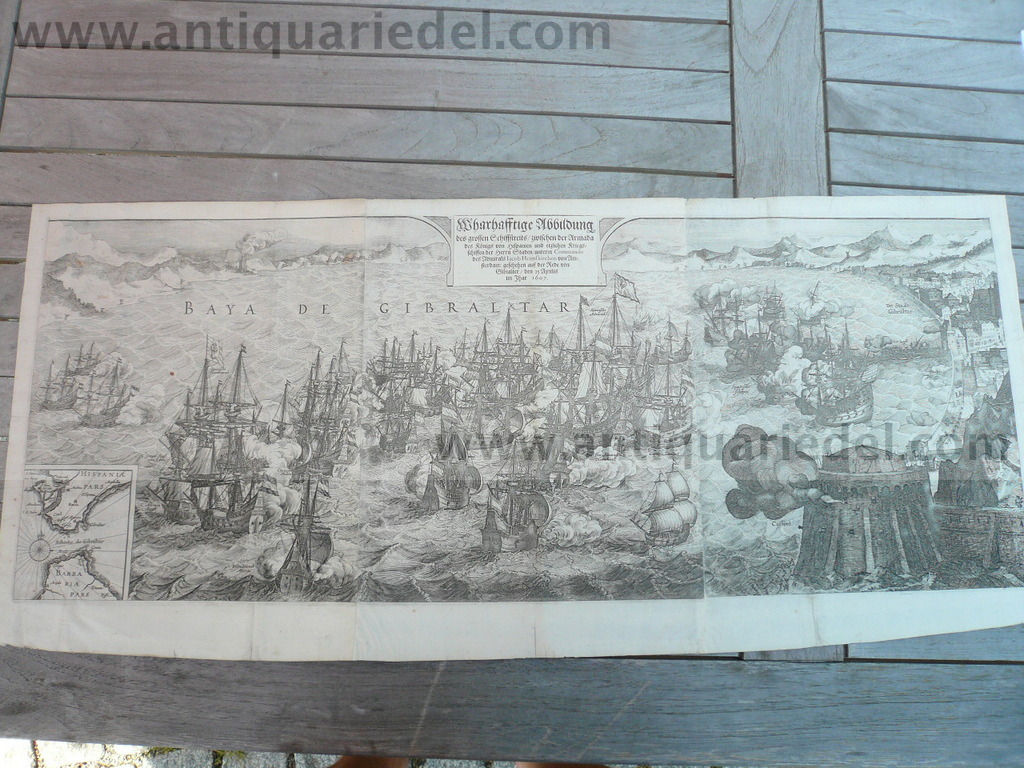 Gibraltar, naval Battle,25.04.1607, Merian M., dutch/spanish